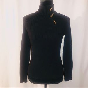 Ralph Lauren Turtleneck Sweater with Gold Accent